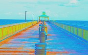 Pier Pastels - Gone Fishing by Dan Hilsenrath