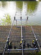 Fishing Rods Metal Prints - Gone fishing Metal Print by David Pyatt