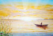 Sun Rays Paintings - Gone fishing by Peter Garrett