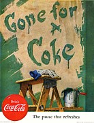 Coke Bottle Prints - Gone For a Coke Print by Nomad Art And  Design