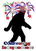 4th July Digital Art Posters - Gone Squatchin - Celebrating Independence Poster by Gravityx Designs