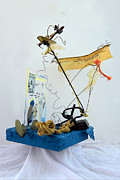 Plane Sculpture Prints - Gone with the wind Print by Elena Fattakova