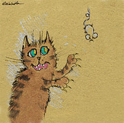 Mouse Drawings - Gonna Catch That Mouse by Angel  Tarantella