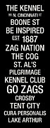 Club Posters - Gonzaga College Town Wall Art Poster by Replay Photos