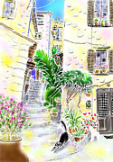 Provence Village Prints - Good afternoon Print by Hisayo Ohta