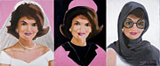 Jackie Kennedy Onassis Paintings - Good and Plenty Jackie O  by Candace Lovely