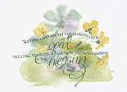 Sympathy Painting Posters - Good Blessings Poster by Judy Dodds