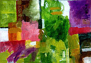 Abstract Expressionist Prints - Good Company Print by Douglas Simonson