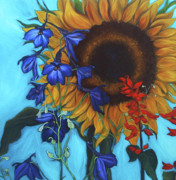 Sunflower Paintings - Good Day Sunshine by Andrea LaHue