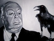 Hitchcock Film Paintings - Good Evening by Martha Suhocke