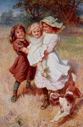 Puppy Digital Art - Good Friends by Frederick Morgan