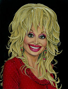 Dolly Parton Framed Prints - Good Golly Miss Dolly Framed Print by Samantha Stutzman