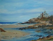 Massachusetts Coast Paintings - Good Harbor Beach by Kat Hall