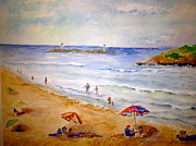 Atlantic Beaches Painting Framed Prints - Good Harbor Beach Framed Print by Kathryn G Roberts