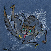 Naked Cat Framed Prints - Good Hygiene Is Essential Framed Print by Angel  Tarantella