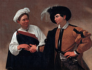 Caravaggio Painting Metal Prints - Good Luck Metal Print by Caravaggio