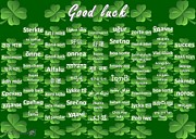Hindi Mixed Media Prints - Good Luck Print by J McCombie