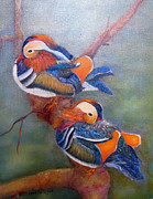 United States Paintings - Good Luck Mandarins by Loretta Luglio