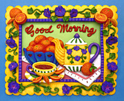 Clay Sculpture Posters - Good Morning Poster by Amy Vangsgard