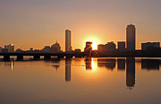 Dawn Photos Posters - Good Morning Boston Poster by Juergen Roth