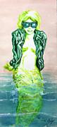 Good Morning Little Mermaid Print by Del  Gaizo