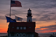 Sunrise Lighthouse Prints - Good Morning Maine Print by Emily Stauring
