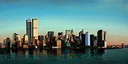 11 Wtc Painting Metal Prints - Good Morning New York Metal Print by Damir Selmanovic
