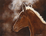 Foal Paintings - Good Morning Sun by Linda Shantz