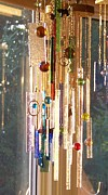 Colored Glass Art Metal Prints - Good Morning Sunshine - Sun Catcher Metal Print by Jackie Mueller-Jones
