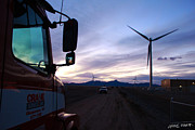 Wind Turbine Photos - Good Night by Chris Martin
