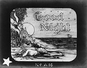 Movies Photo Posters - Good Night Movie Lantern Slide  1907 Poster by Daniel Hagerman