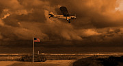 Piper Cub Prints - Good Night Wildwood Beach Print by David Dehner
