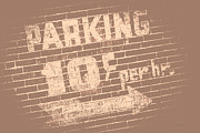 Parking Lot Prints - Good Old Days Print by Bob Orsillo