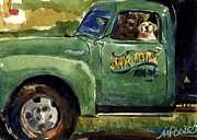 Yellow Labrador Retriever Paintings - Good Ole Boys by Molly Poole