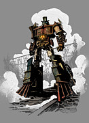 Robot Metal Prints - Good Robot Metal Print by Brian Kesinger