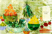 Salad Mixed Media Prints - Good Things Print by Sarah Kiser