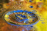 Drops Of Water Prints - Good Vibrations Nature Abstract Art Print by Christina Rollo