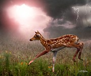 Death Digital Art Originals - Goodbye Bambi by Bill Stephens