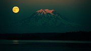 Tacoma Prints - Goodnight Rainier Print by Benjamin Yeager