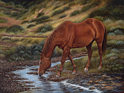Horses Prints - GoodOl Red Print by Ricardo Chavez-Mendez