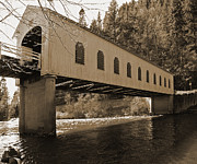 Tim Moore Prints - Goodpasture Bridge Print by Tim Moore