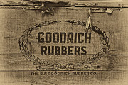 Apparel Metal Prints - Goodrich Rubbers Boot Box Metal Print by Tom Mc Nemar