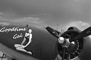 Ww Ii Prints - Goodtime Gal C-60 Transport Ariplane Print by M K  Miller