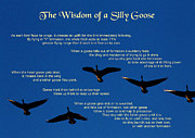 Goose Wisdom Print by Mike Flynn