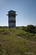 Watchtower Photos - Gooseberry Island Tower by Dave Gordon