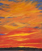 Print Pastels Originals - Gooseberry Point Skyfire by Pamela Heward