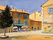 Gaul Paintings - Gordel Provence Cafe Clerici by Bill Holkham