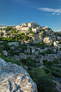 Hilly Landscape Metal Prints - Gordes Provence Metal Print by Brian Jannsen