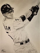 Mlb Baseball Drawings Originals - Gordon Beckham by Tim Brandt