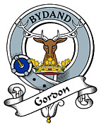 Genealogy Prints - Gordon Clan Badge Print by Heraldry